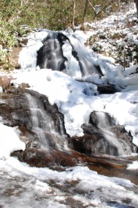 Laurel Falls in the Winter.