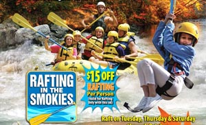 Save $15 on Rafting with Rafting in the Smokies