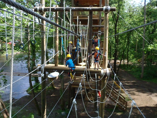 Rafting In The Smokies Ropes Course Challenge Pictures