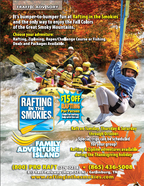 White Water Rafting In TN- Rafting In the Smokies- Fall discounts
