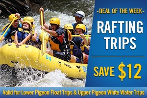 Feature Package - Whitewater Rafting - Save $12 (valid for Lower Pigeon River Float and Upper Pigeon River Whitewater Rafting Trips)