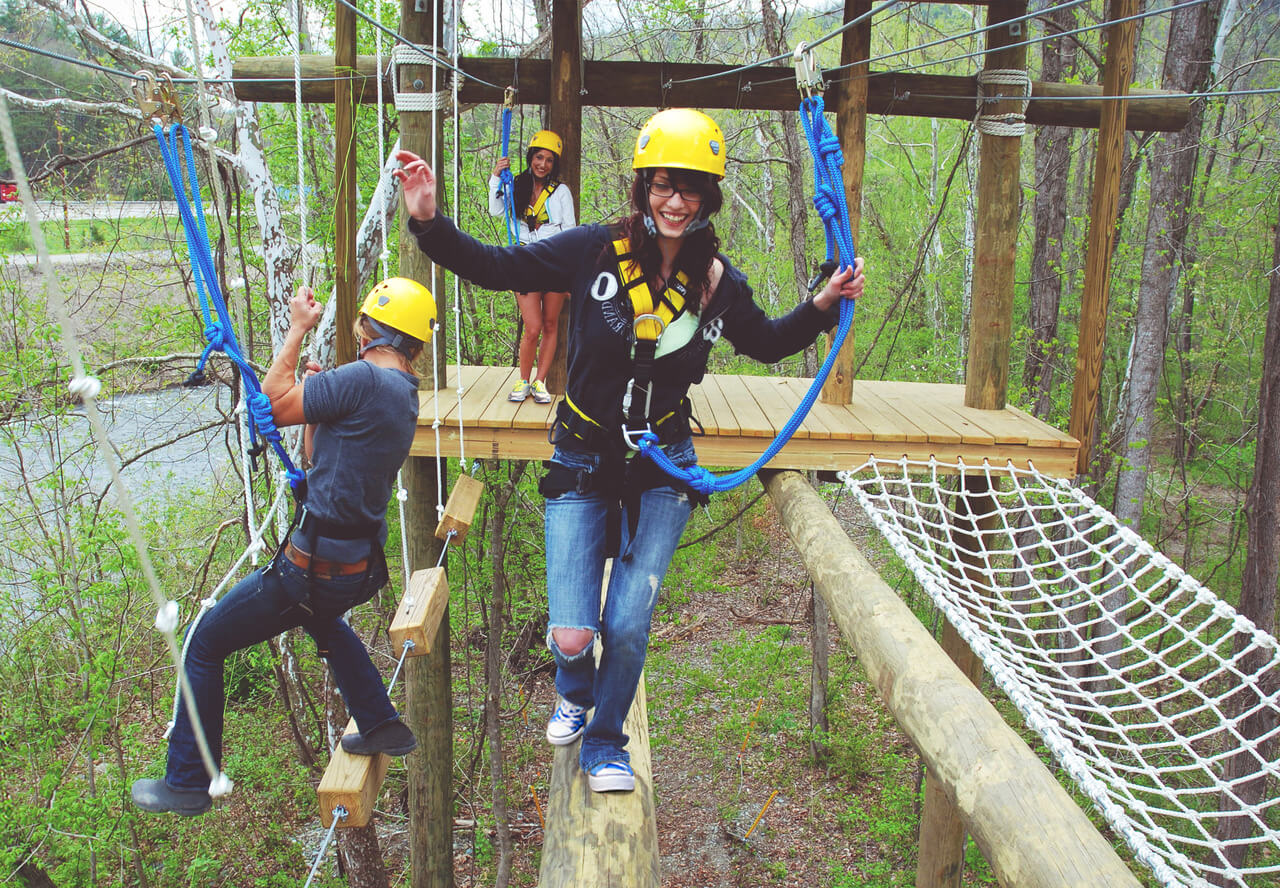 Ropes Course Canopy Tours Rafting In The Smokies